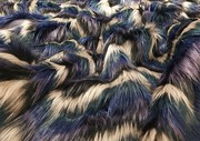 Blue Chevron Faux Fur Fabric Limited Edition