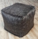 Timber Wolf Faux Fur Pouffes
