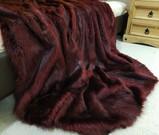 Tuscan Red Faux Fur Throw