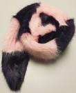 Raspberry Cream and Amethyst Mink Faux Fur Cheshire Scarf