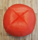 Coral Faux Fur Ball