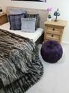Royal Purple Faux Fur Ball