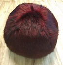 Tuscan Red Faux Fur Ball