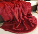 Ruby Red Faux Fur Throw