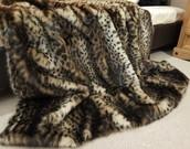 New Ocelot Faux Fur Throws