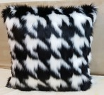 Tissavel Houndstooth Faux Fur Cushions