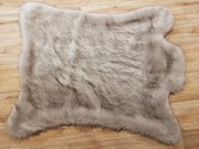 Tissavel Tundra Wolf Cream Faux Fur Rug