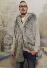 Mens Silver Musquash Faux Fur Gilets