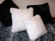 Snow White Faux Fur Cushions
