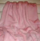 Raspberry Cream Mink Faux Fur per meter