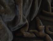 Brown Softee Faux Fur Fabric Per Meter