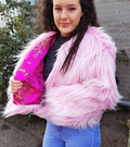 Candy Faux Fur Cropped Jacket