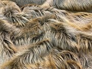 SALE Dark Desert Coyote Faux Fur Throw with Mocha Velboa