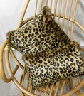 Gold Leopard Faux Fur Cushions