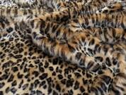Gold Leopard Faux Fur Fabric Per Meter