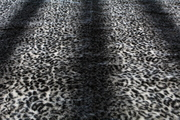 Grey Ocelot Faux Fur Fabric Half Meter