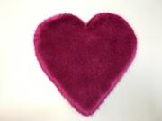 SALE Hot Pink Faux Fur Heart & Round Cushion Bundle