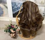 SALE Kodiac Bear Brown Faux Fur Throws