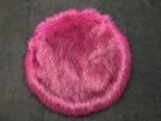 SALE Magenta Pink Faux Fur Heart & Cirlcle Cushion Bundle