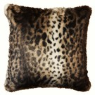 "SALE Ocelot Faux Fur Both Sides 18"" Cushions"