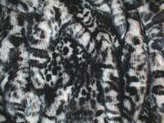 Panther Faux Fur Fabric Per Meter
