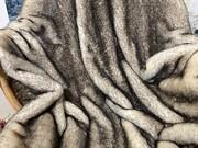 SALE Brown Tip Polar Fox Faux Fur Throw