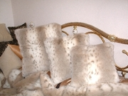 Snow Lynx Faux Fur Cushions