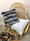 Silver Wave Faux Fur Cushions