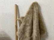 SALE Toffee Faux Fur Throw & Cushions