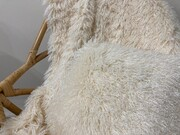 Valais Cream Faux Fur Throws